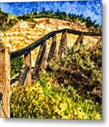 Boardwalk Steps Metal Print by Anthony Citro