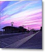 Boardwalk Stroll  Metal Print