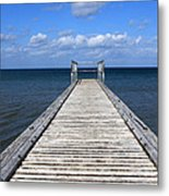 Boardwalk To The Ocean Metal Print