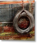 Boat - Abstract - It Was A Good Year Metal Print by Mike Savad