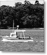 Boat And Tender At Coochiemudlo Island Metal Print