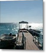 Boat At The Peer Metal Print