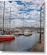 Boat - Baltimore Md - One Fine Day In Baltimore  Metal Print