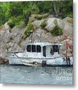 Boat Break Metal Print