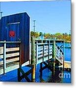 Boat Dock In Rhode Island Metal Print