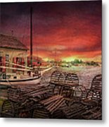 Boat - End Of The Season  Metal Print by Mike Savad
