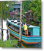 Boat For Transportation On Canals In Bangkok-thailand Metal Print