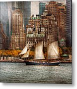 Boat - Governors Island Ny - Lower Manhattan Metal Print by Mike Savad
