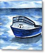 Boat In Grand Cayman Metal Print
