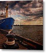 Boat In Marina Metal Print