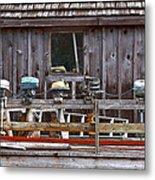 Boat Motors Going Nowhere Metal Print