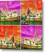 Boat Of A Different Color Metal Print