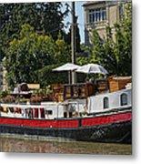 Boat On Canal Du Midi Homps France Dsc01717  Metal Print