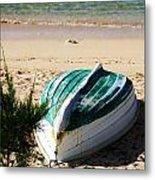 Boat On Devonshire Bay Beach Metal Print