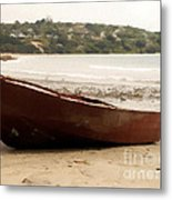Boat On Shore 02 Metal Print