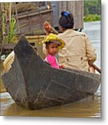 Boat On The River Metal Print