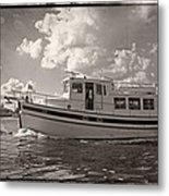 Boat On The Water Metal Print