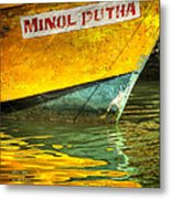 Boat Reflection Metal Print