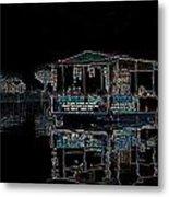 Boat Restaurant Metal Print by Vijinder Singh
