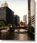 Boat Ride On The Chicago River Metal Print