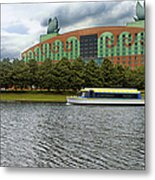 Boat Ride Past The Swan Resort Walt Disney World Metal Print