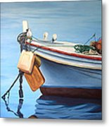 Boat Saida - Zaher Bizri Lebanes Artist - Art In Lebanon Metal Print