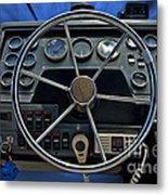 Boat Steering Wheel Metal Print