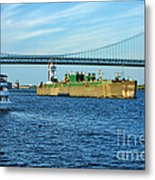 Boat Traffic Metal Print