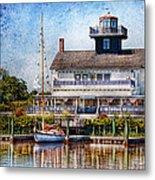 Boat - Tuckerton Seaport - Tuckerton Lighthouse Metal Print