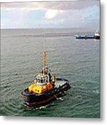 Boat - Tugboat Barbados II Metal Print