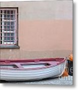 Boat Under A Window Metal Print