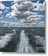 Boat Wake 01 Metal Print