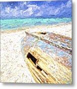 Boat Wreck Of Aruba Metal Print