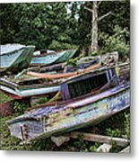 Boat Yard Metal Print by Heather Applegate