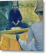 Boaters On The Yerres Metal Print