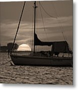 Boater's Sunset Metal Print
