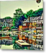 Boathouse Color Metal Print