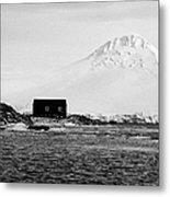 boathouse on goudier island port lockroy with doumer island hill Antarctica Metal Print