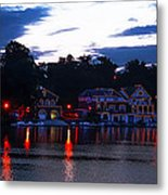 Boathouse Row Along The Schuylkill River At Dawn Metal Print