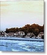 Boathouse Row And Farmount Dam Metal Print