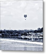 Boathouse Row And The Zoo Balloon Metal Print