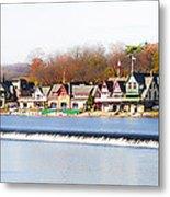 Boathouse Row In Autumn Metal Print