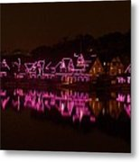 Boathouse Row In Pink Metal Print