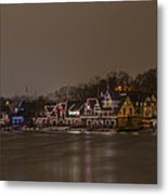 Boathouse Row In The Evening Metal Print