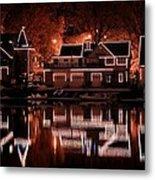 Boathouse Row Reflection Metal Print
