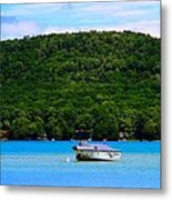 Boating At Sleeping Bear Dunes Lake Michigan Metal Print