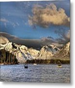 Boating In The Tetons Metal Print by Dan Sproul