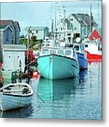 Boating In The Village Metal Print