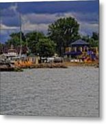 Boating On Lake Erie Metal Print