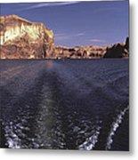 Boating On The Colorado River In Glen Canyon Utah Usa Metal Print